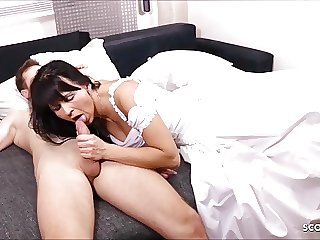 German MILF Bride get last Cheating Fuck short for Wedding