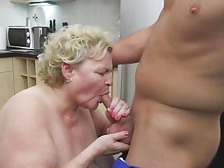 Busty mom and granny spoiling boys