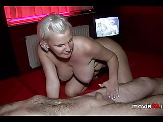 BBW MILF Jill Summer blows a dick and gets cum in her mouth