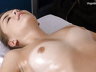 Virgin Litonya has incredible orgasms