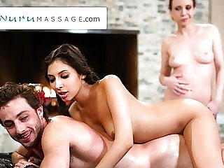 Gianna Dior Convinces Her Friends To Do A Threesome Massage