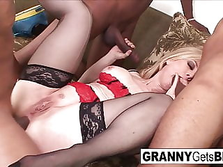 The legendary Nina Hartley gets an amazing interracial