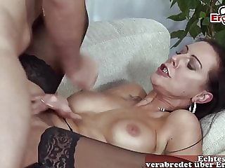 GERMAN HAIRY SKINNY MILF SEDUCES GUY WITH BIG COCK STORY