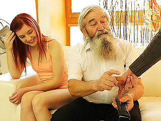 DADDY4K. Boy caught old dad fingering his GF and...