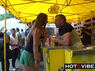 Big Cock Emilio Fucks Amirah In Public