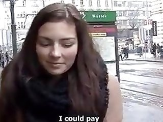 European student let herself fuck for money
