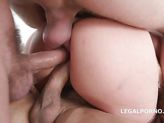Monsters of Triple Anal Penetration: foursome gangbang gets too brutal and rough