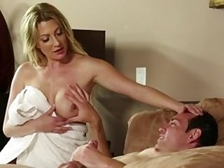 Sexy milf shows her nasty side during one night stand in hotel
