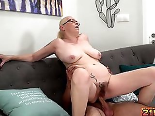 Busty Granny Loves Creampie